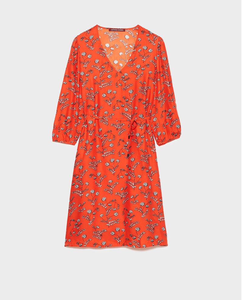 Robe ample en soie Coronille spicy Novis