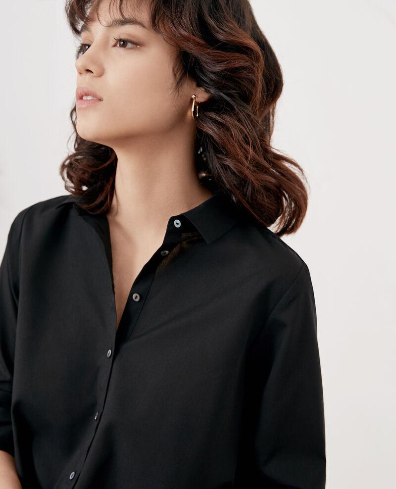 Chemise avec dos plissé Noir Fratrie