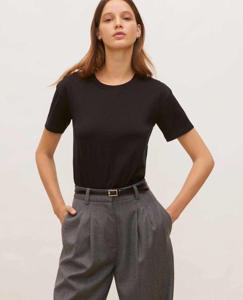 T-shirt coton manches courtes col rond Black beauty Lirous