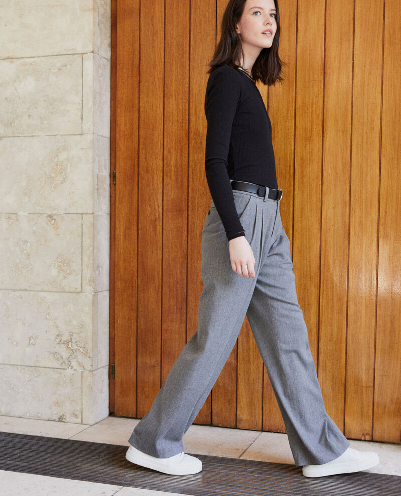 Pantalon coupe ample Medium grey Gorgono
