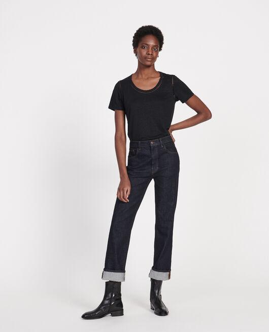 T-shirt en lin jersey  BLACK BEAUTY