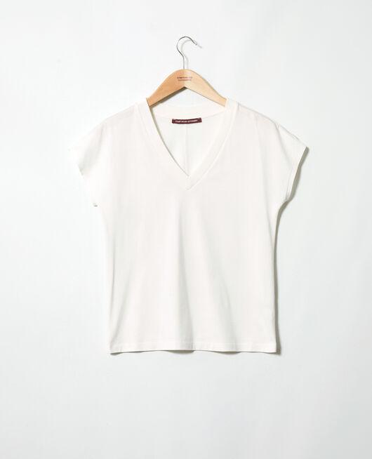 T-shirt col V OFF WHITE