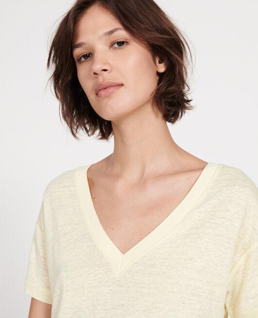 T-shirt en lin TENDER YELLOW