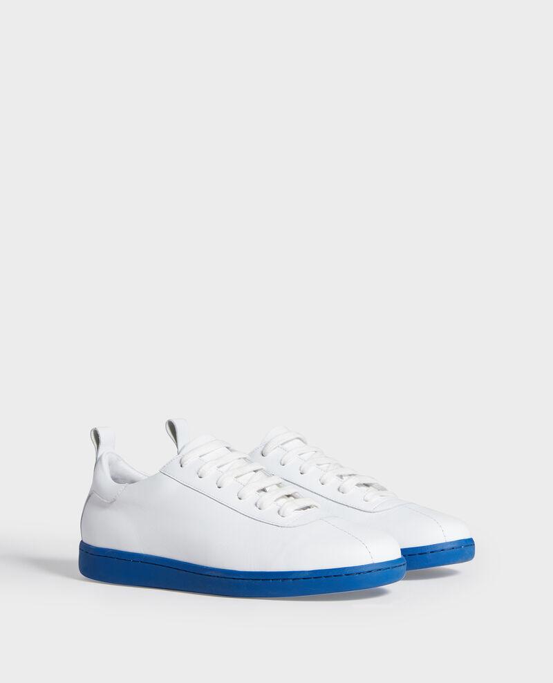 Sneaker en cuir à lacets White princess blue Lead