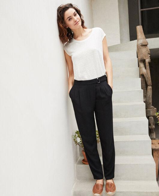 Pantalon style sarouel   Noir