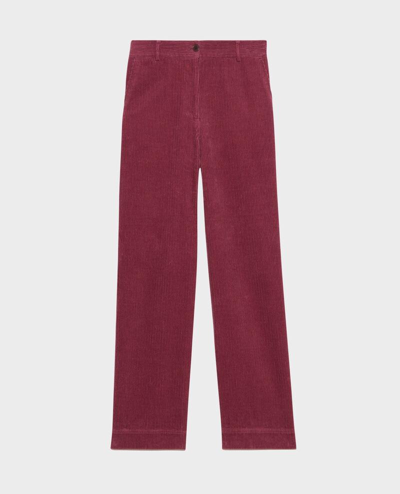 Pantalon large en velours côtelé Damson Maora