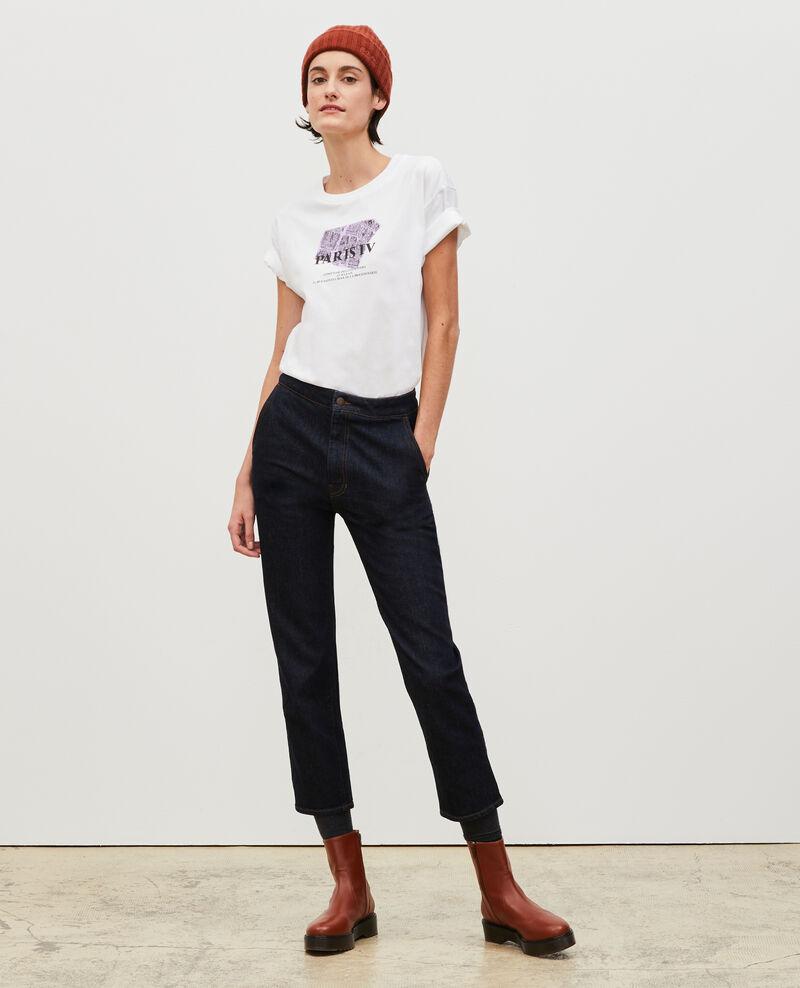 T-shirt en coton manches courtes Pastel lilac Mariette