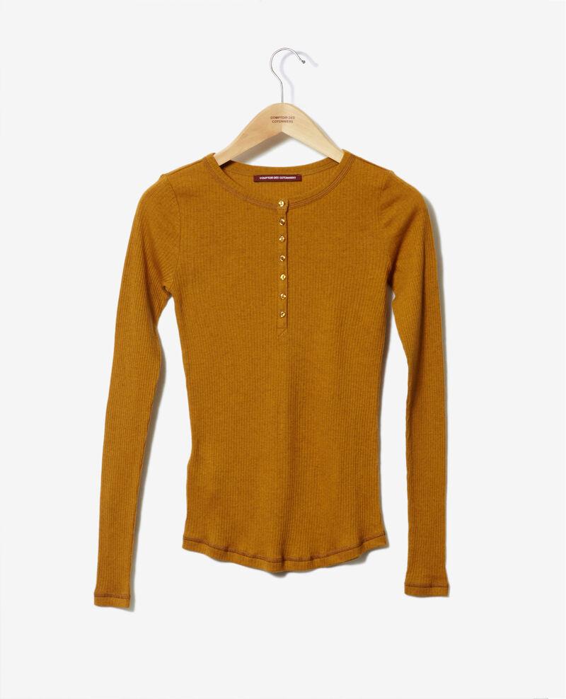 T-shirt avec patte de boutonnage Golden brown Grila