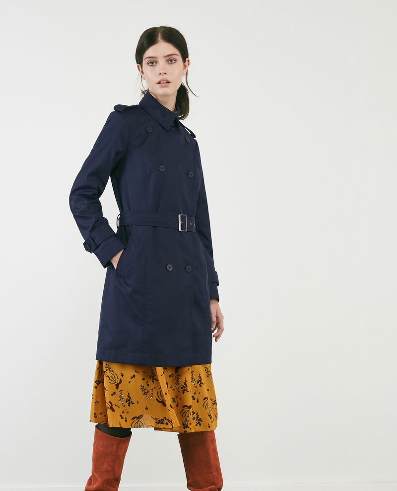 Trench iconique pour femme couleur dark navy cadeau - Doudoune femme comptoir des cotonniers ...