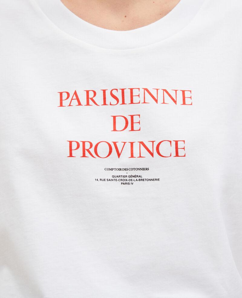 T-shirt en coton manches courtes Brilliant white Mara