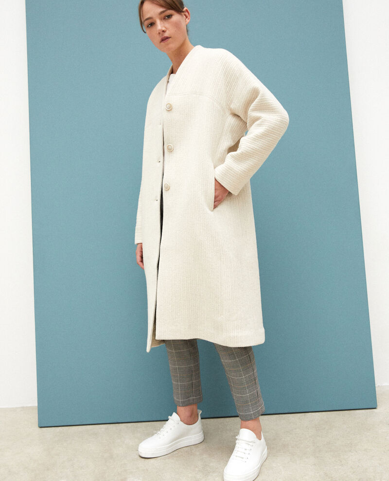 Manteau ample Off white Giovanna