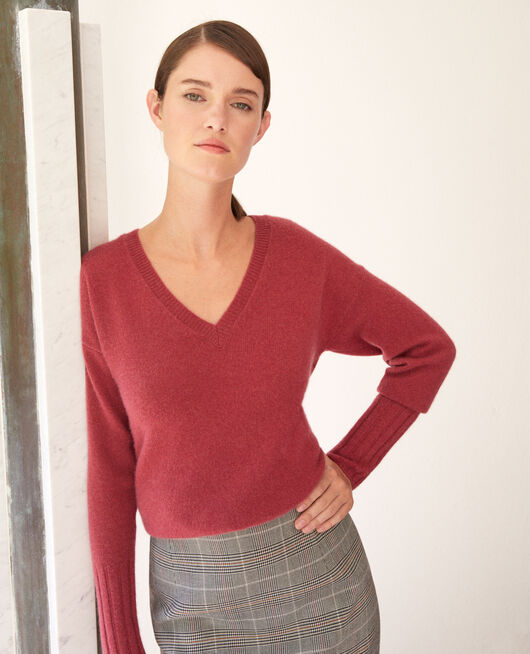 Pull en cachemire EARTH RED