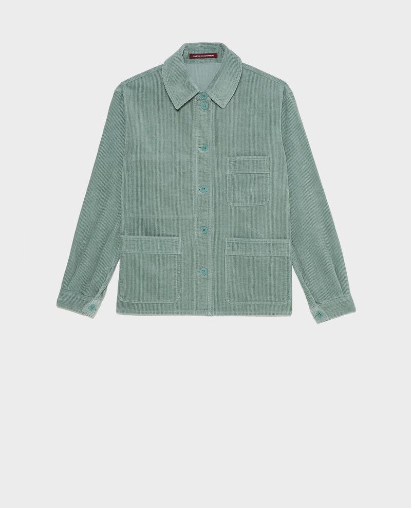 Veste de travail en velours côtelé Chinois green Malipine
