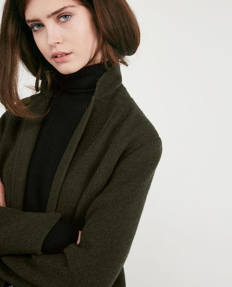 Manteau en laine double-face Kaki Dexpresso
