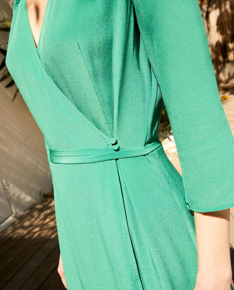 Robe portefeuille en soie Green Icoeur