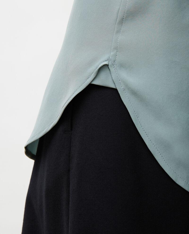 Chemise d'homme en soie manches longues Chinois green Moriges
