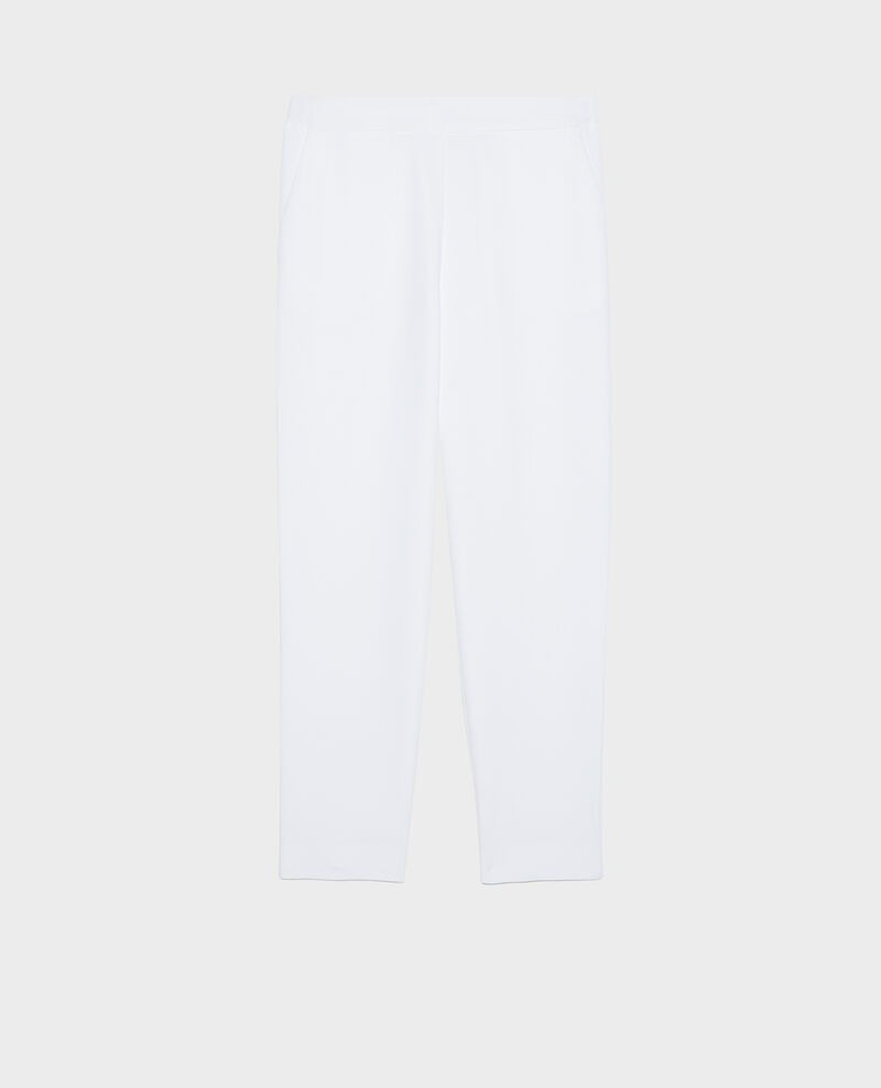 Pantalon fluide élastiqué Optical white Luant