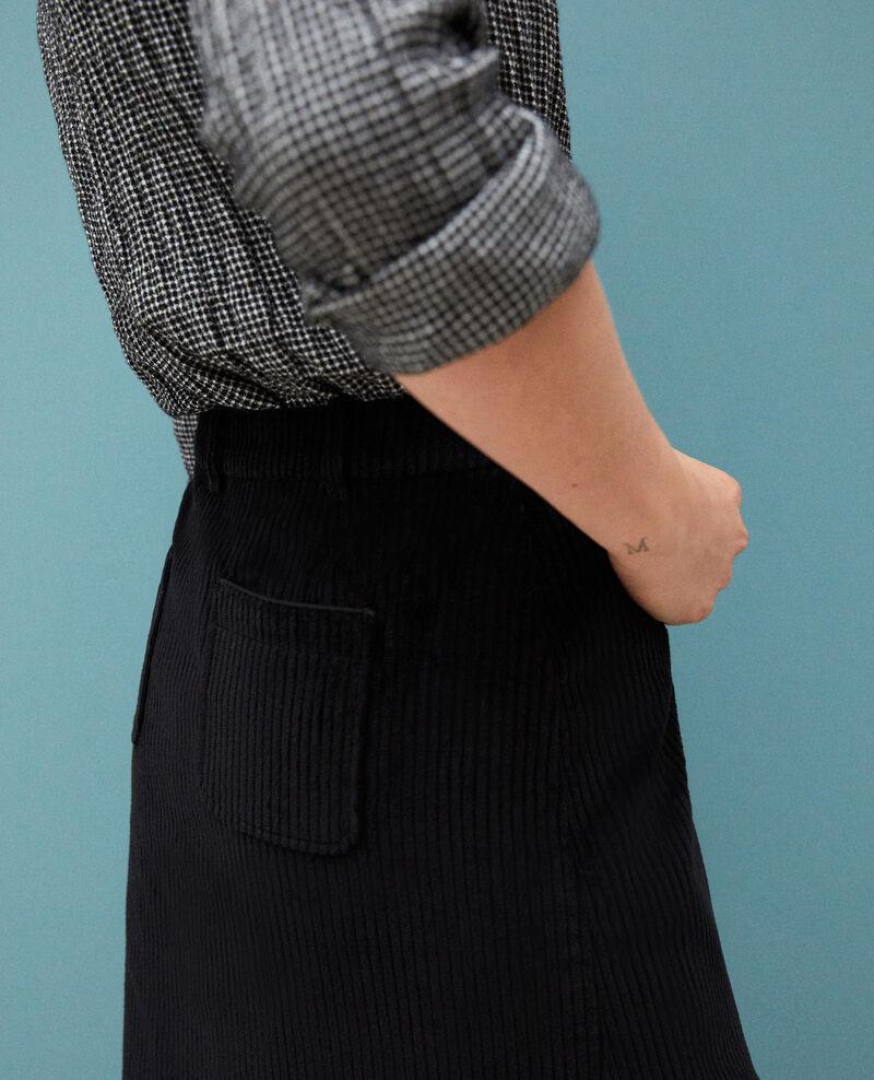 Jupe en gros velours côtelé Noir 9gammon