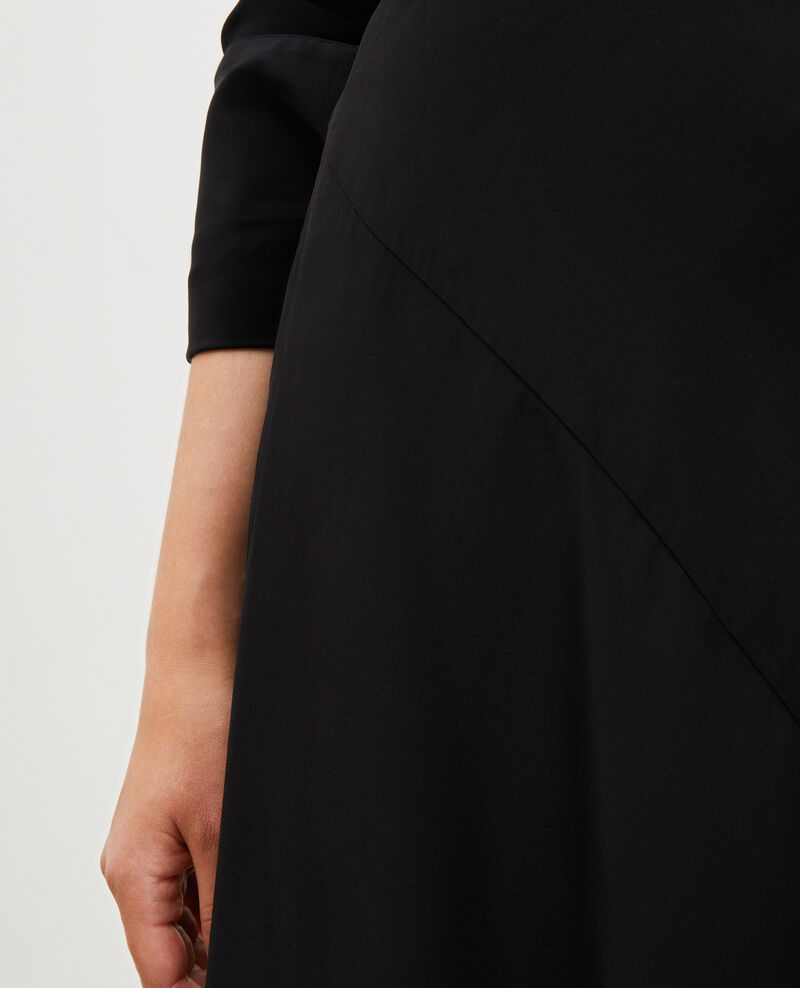 Jupe évasée en soie coupée en biais Black beauty Lido