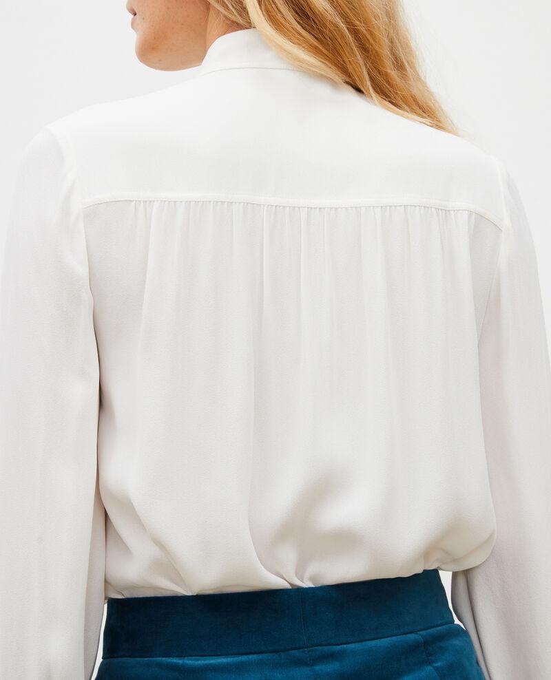 Chemise manches longues à col noué  Jet stream Meyrala