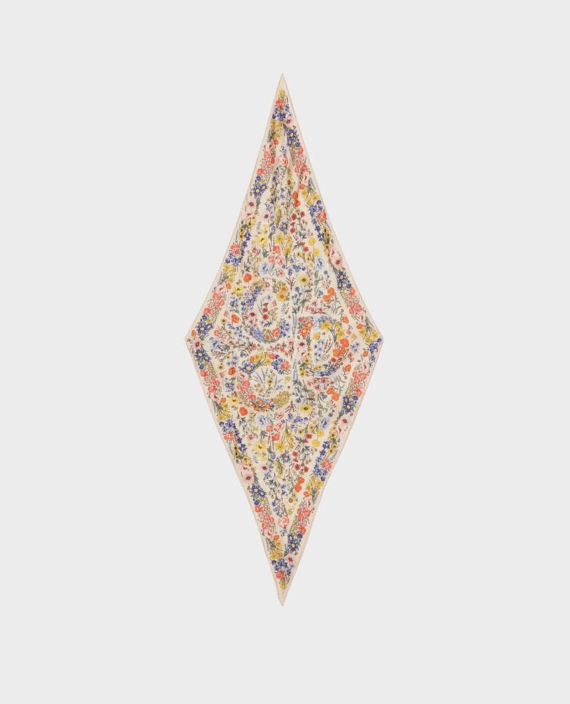 Foulard forme diamant en soie Tapioca Nage