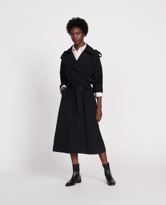 Fashion oversized trench BLACK BEAUTY