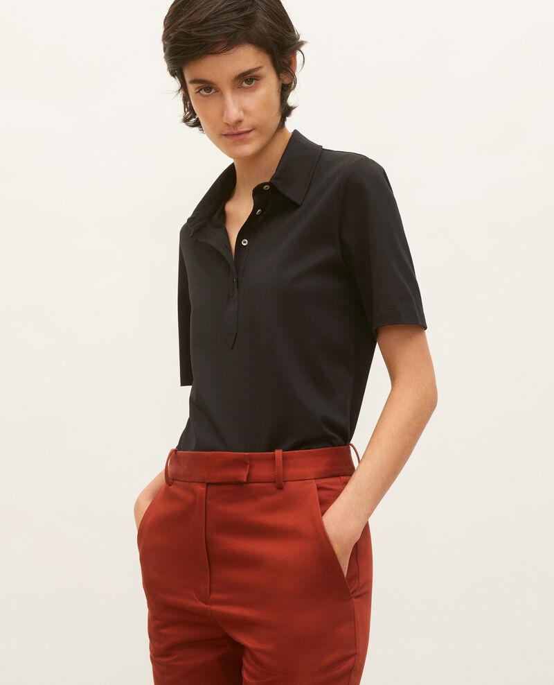 Polo en coton égyptien Black beauty Levas