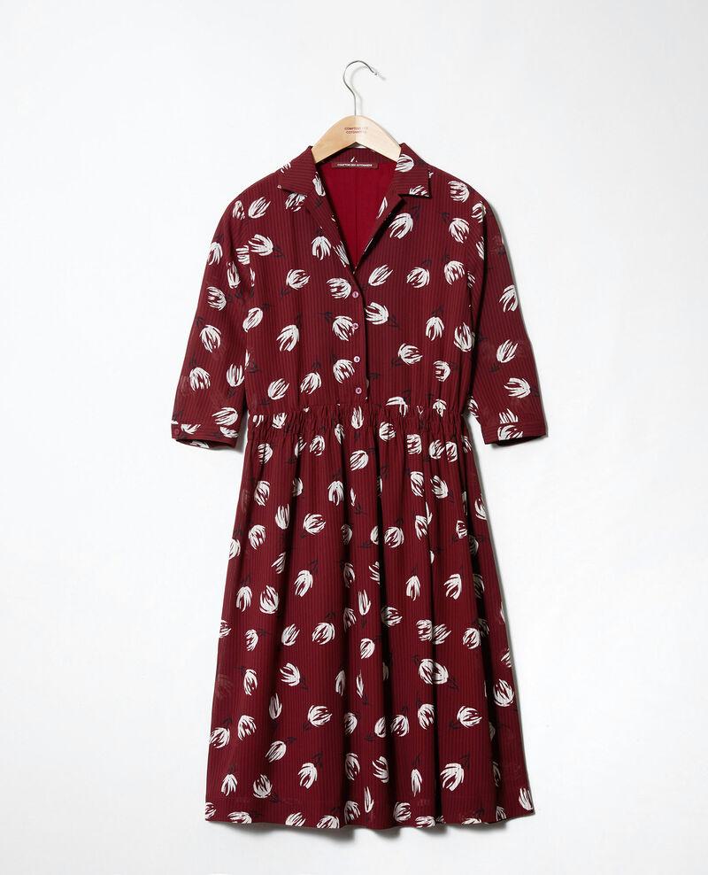 Robe chemise imprimée Tulip cabernet Jaradja