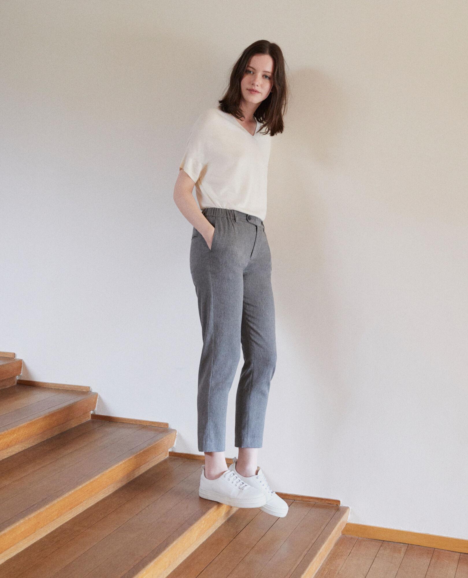 Galetto Coupe Carotte Couleur Grey Femme Medium Pantalon 7YRwqvOn