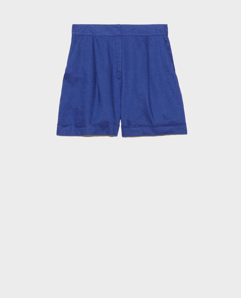 Short court en lin Royal blue Navillien
