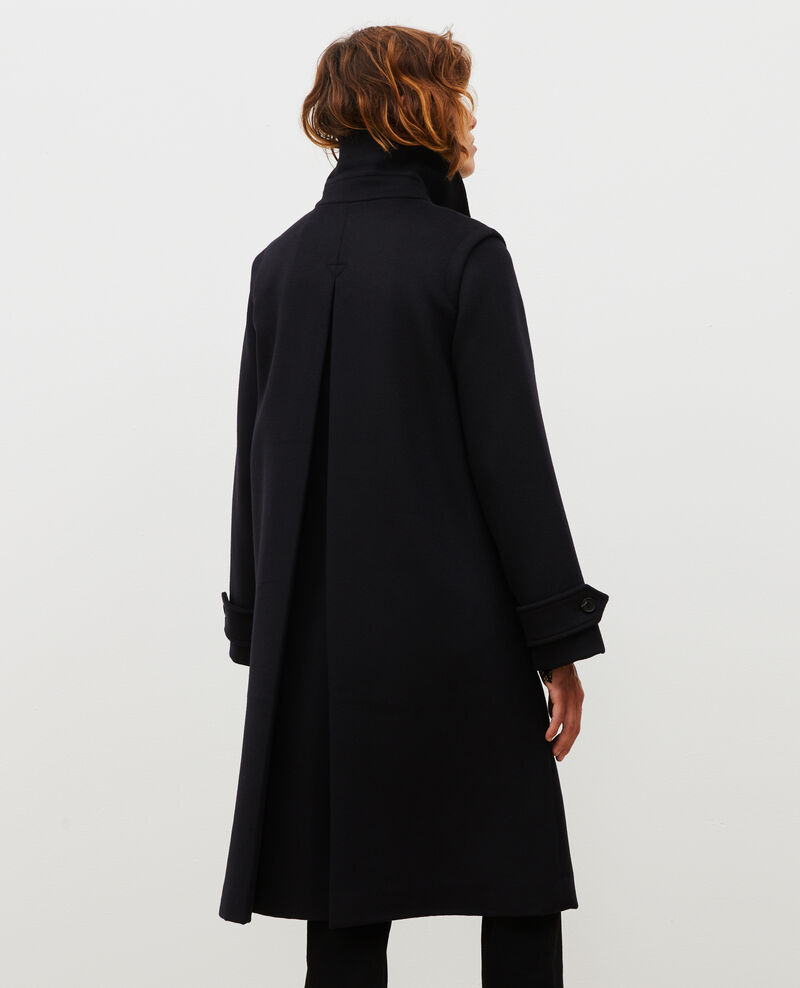 Manteau évasé en laine et cachemire Black beauty Madriat