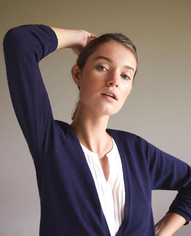 Cardigan-blouse trompe-l'œil Peacoat/off white Gapristi