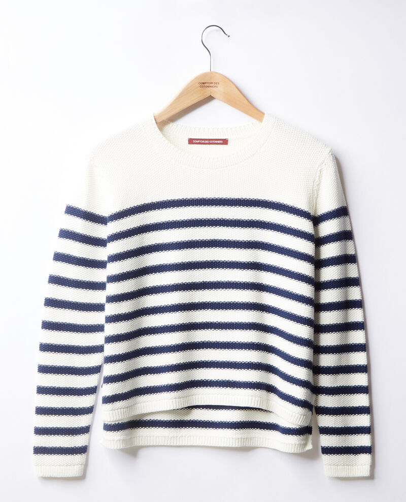 Pull marinière Off white/marine Faranou