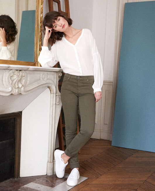 Jean en toile coupe slim OLIVE NIGHT