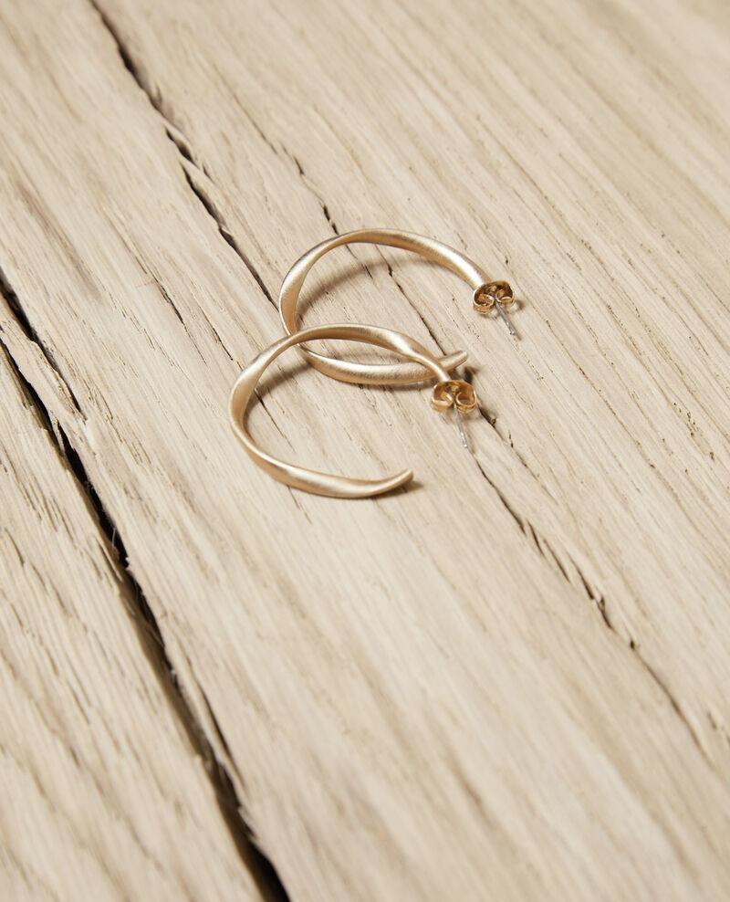 Boucles d'oreilles rondes irrégulières Gold Imoni