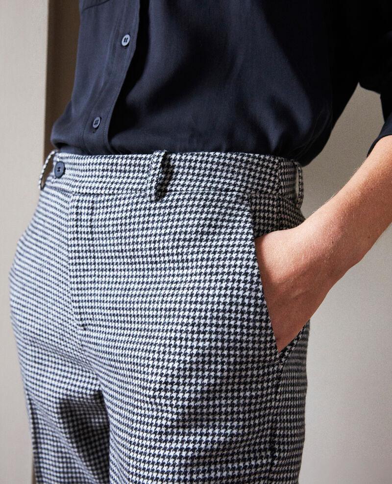 Pantalon en flanelle pied de poule  Houndtooth Jokyla