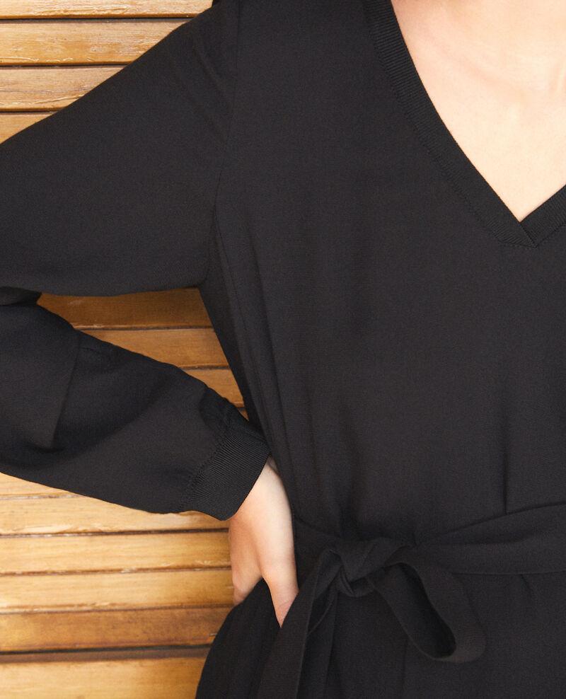 Robe décolleté V Noir Genevieve