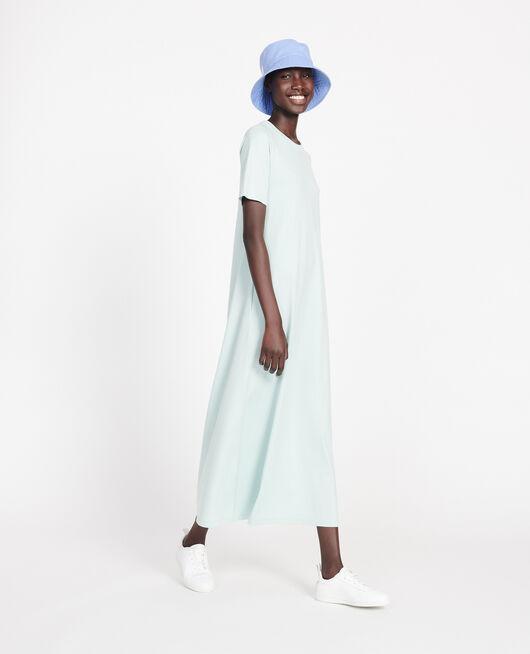 Robe longue en coton mercerisé BLUE HAZE