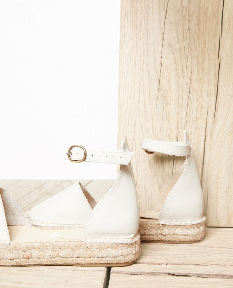 Espadrilles en cuir avec bride Natural Iforma