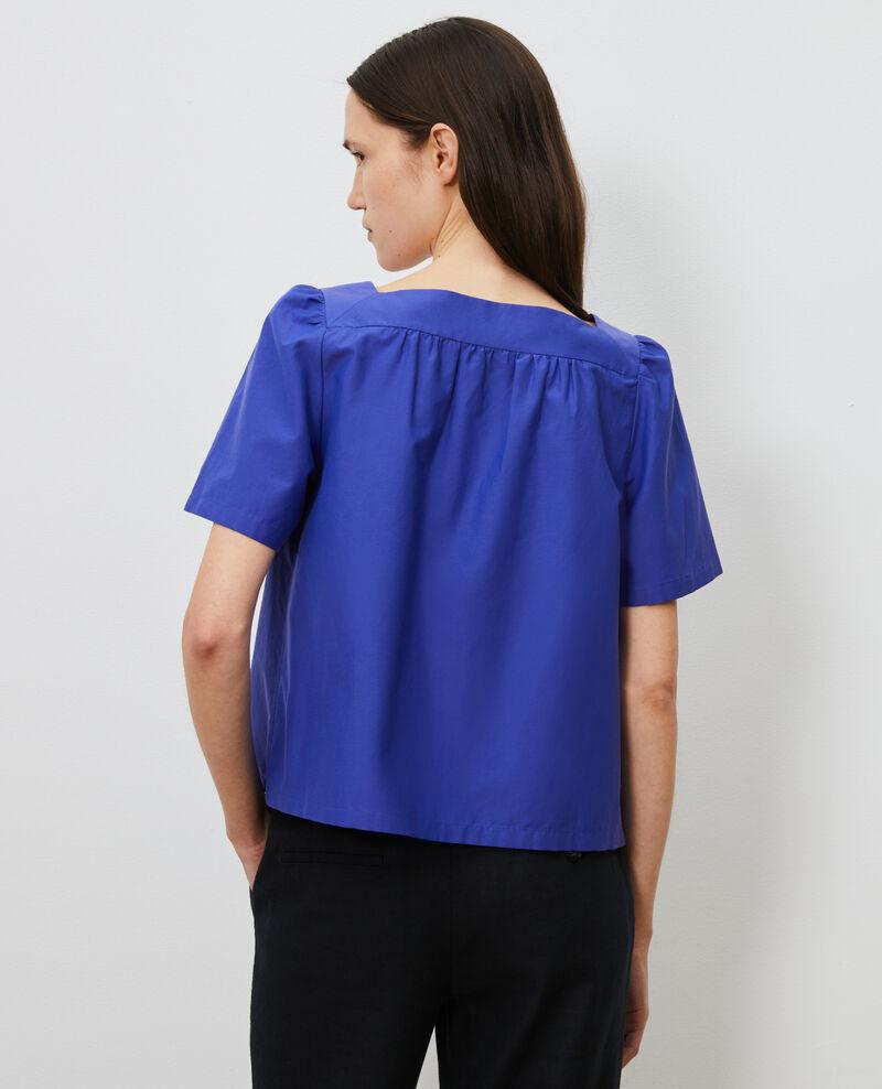 Haut en coton et soie Royal blue Nondo