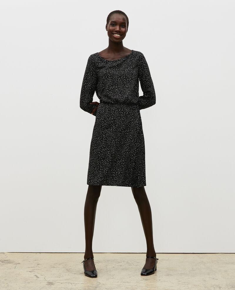 Robe courte portefeuille Print constellation black Meussia