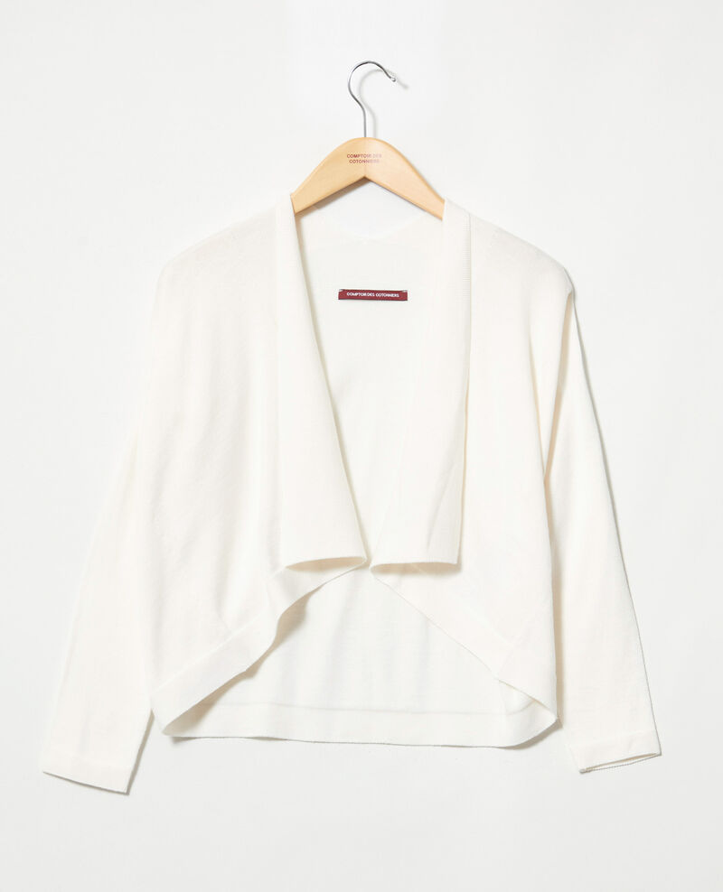 Cardigan court en coton 3D Off white Ijape