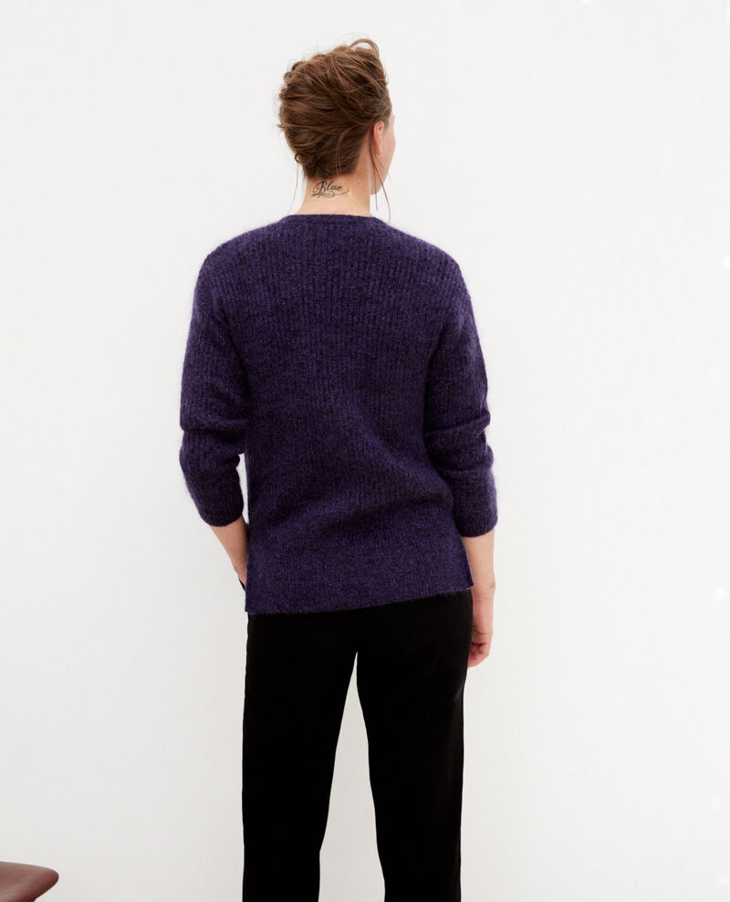 Cardigan avec du mohair Purple/noir/lurex Guirlande