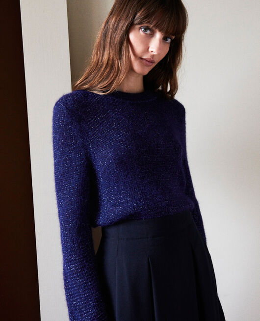 Pull maille fantaisie EVENING BLUE