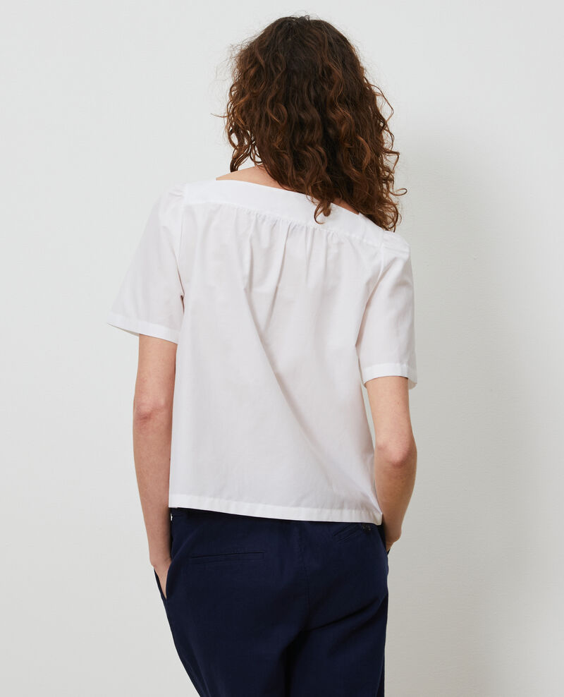 Haut en coton et soie Brilliant white Nondo