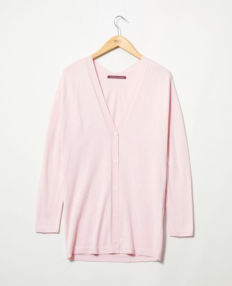 Cardigan long en maille 3D Pink icing Ipatique