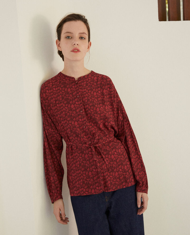 Blouse coupe ample Ld rio red Garuya
