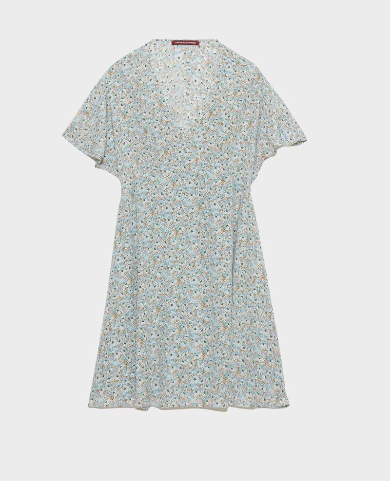 Robe courte en soie Art deco blue Pabydoll