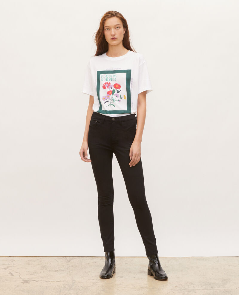 T-shirt en coton manches courtes ample Dark green Masny
