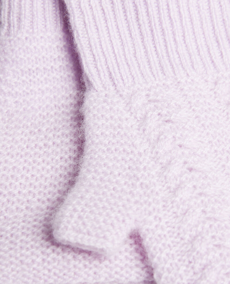Gants mitaines en cachemire Pastel lilac Mirabel